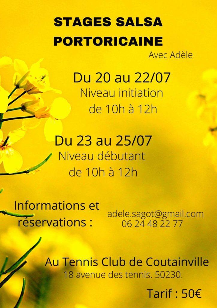 Stage Salsa Portoricaine au Tennis club de Coutainville