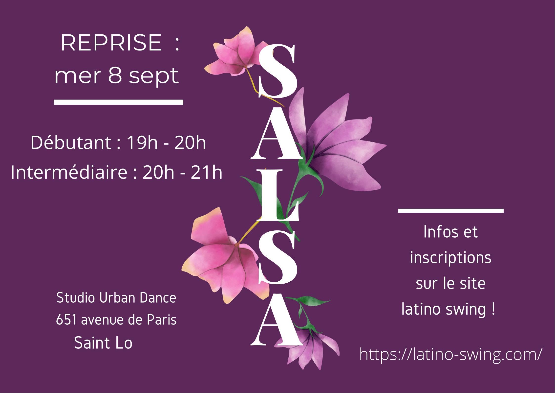cours salsa latino swing adèle sagot